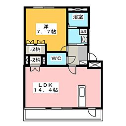 コンフォール馬東[1階]の間取り