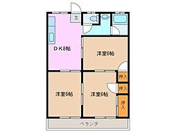 ハイムグレース A棟[2階]の間取り