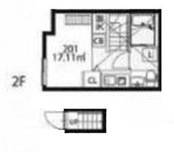 インベスト大森27[2階]の間取り