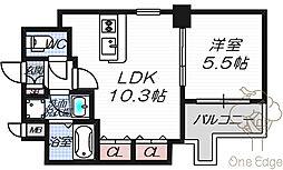 メゾンドヴァンドール 3階1LDKの間取り