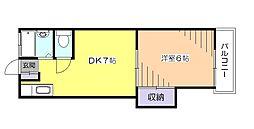 東京都小平市学園西町2丁目の賃貸アパートの間取り