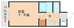 プレスト竹下[3階]の間取り