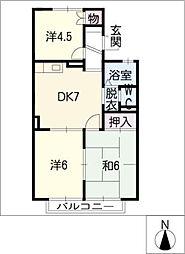 ホワイトヒルズ[2階]の間取り