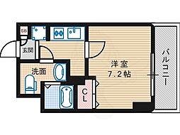 Osaka Metro御堂筋線 長居駅 徒歩2分の賃貸マンション 2階1Kの間取り