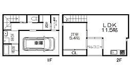 甘木鉄道 甘木駅 徒歩31分の賃貸一戸建て 1階1LDKの間取り