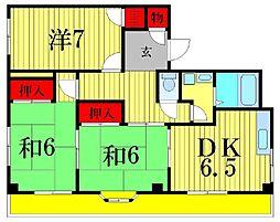 エスペラントハイツII[3階]の間取り