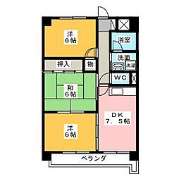 Scudetto Matsubara[4階]の間取り