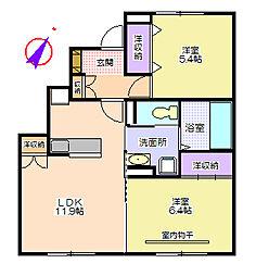 プロテージハウスB棟[101号室号室]の間取り