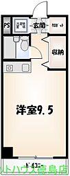 富田浜 1R[504号室]の間取り