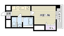 Osaka Metro長堀鶴見緑地線 今福鶴見駅 徒歩4分の賃貸マンション 10階1Kの間取り