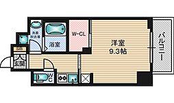 エステムコート新大阪10ザ・ゲート 10階1Kの間取り