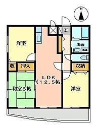 グランドビレッジ宮田[3階]の間取り
