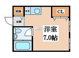 プロシード八戸ノ里[2階]の間取り