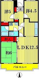 ピュアフィールド六高台[2階]の間取り