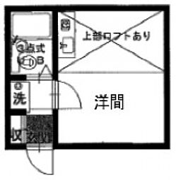 ヒルサイドフラット[1階]の間取り