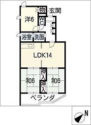 UNAX−1[2階]の間取り