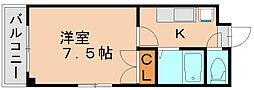 エスポワール諸岡[3階]の間取り