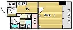 クレール南茨木[5階]の間取り
