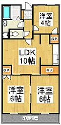 セント東大和[5階]の間取り