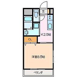 仮)久保田町MマンションB棟[2階]の間取り