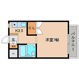 奈良県香芝市下田西3丁目の賃貸マンションの間取り