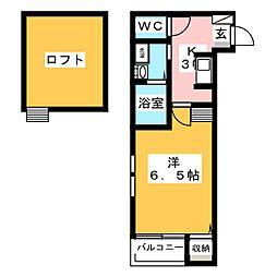 愛知県名古屋市中村区大秋町3丁目の賃貸アパートの間取り