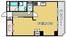 Osaka Metro谷町線 守口駅 徒歩5分の賃貸マンション 4階1LDKの間取り