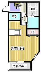 ポラリス松戸II[2階]の間取り