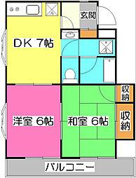 煉瓦館91[2階]の間取り