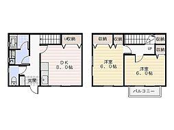 [テラスハウス] 神奈川県横須賀市佐野町3丁目 の賃貸【/】の間取り