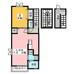 セレーノ・カーサ[3階]の間取り