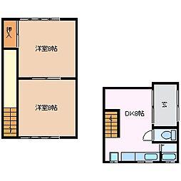 [テラスハウス] 三重県四日市市松本6丁目 の賃貸【/】の間取り