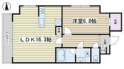 ディ・アミカル[306号室]の間取り