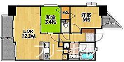 アクタス箱崎ステーションコート[8階]の間取り