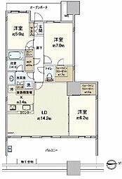 パークシティ柏の葉キャンパス一番街A棟[27階号室]の間取り