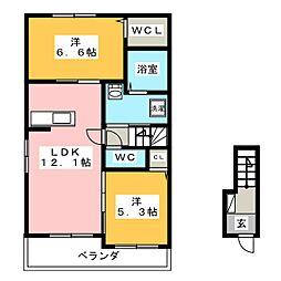 REA 島[2階]の間取り