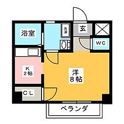 セゾン永田[1階]の間取り