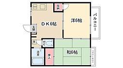 エレガンスプラザ[2-B号室]の間取り