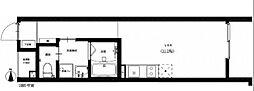 JR津山線 法界院駅 徒歩12分の賃貸アパート 1階ワンルームの間取り