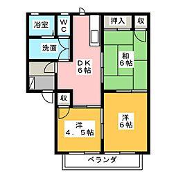 ファミール塩津 B[1階]の間取り