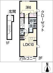 プラシード カーサ[2階]の間取り