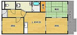 アーバンハイム[4階]の間取り