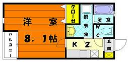 クリスタルI香椎駅東[2階]の間取り