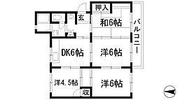 清和台住宅(公社分譲)[2階]の間取り