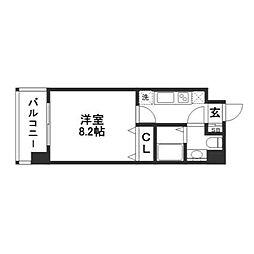 アール六本松駅前[6階]の間取り
