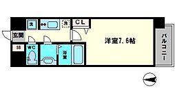 アドバンス大阪城シュアーヴ 5階1Kの間取り