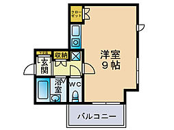 ソシアル六本松[2階]の間取り