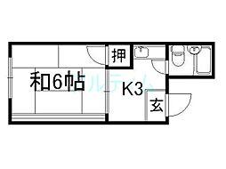 コーポ松尾[3階]の間取り