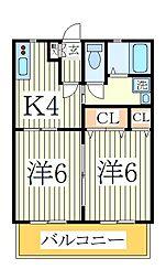 CasaKuraII[1階]の間取り
