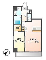up side M 大曽根[4階]の間取り